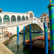 Venice Italy Rialto bridge view — Stock Photo