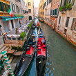 Venice Italy Gondolas on canal — Stock Photo
