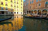 Venice Italy gondolas on canal — Stock Photo