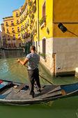 Gôndolas de veneza itália no canal — Foto Stock