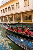 Venice Italy Gondolas on canal — Stockfoto