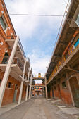 Venice Italy old port industrial building — Stock Photo