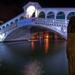 Venice Italy Rialto bridge view — Stock Photo