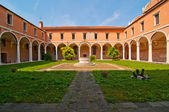 Venezia italia scuola dei carmini — Foto Stock