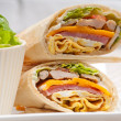 Club sandwich pitbread roll — Stock Photo #28130601