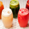 Selection of fruits long drinks — Stock Photo