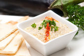 Moutabal baba ghanoush eggplant dip — Stock Photo