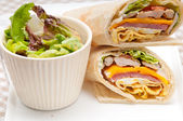 Club sandwich pita bread roll — Stock Photo