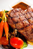 Grilled ribeye steak — Stock Photo