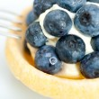 Stock Photo: Blueberry cream cupcake