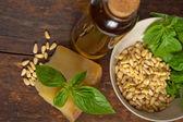 Italian basil pesto ingredients — Stock Photo