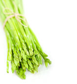 Fresh asparagus over white — Stock Photo