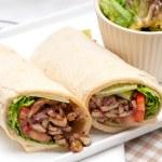 Kafta shawarma chicken pita wrap roll sandwich — Stock Photo #38024341