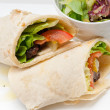 Kafta shawarma chicken pita wrap roll sandwich — Stock Photo