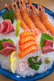 Japanese style assorted sashimi dish — Stockfoto
