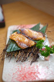 Japanese style teppanyaki roasted cod fish  — Stockfoto