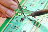 Hi-Tech electronic circuit board — Stock Photo