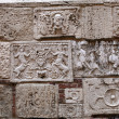 Montepulciano -  Palazzo Bucelli -stones from the Etruscan and Roman ages — Stock Photo