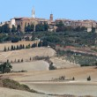 The medieval town of Pienza - Stock Photo