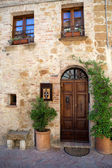 The town of Pienza is a small pearl in the Tuscan countryside — Stock Photo
