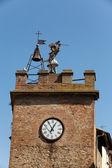 Torre Della Pulcinella Clocktower, Montepulciano — Stock Photo