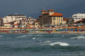 View of Versilia coast - Viareggio — Stock Photo