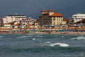 View of Versilia coast - Viareggio — Stock Photo
