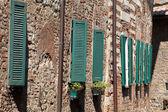 The narrow street in the Tuscan town — Foto de Stock