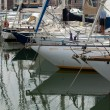 Stock Photo: Marina with yachts and boats