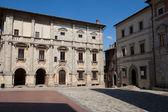 Piazza Grande / Main Square/ in Montepulciano, — Stock Photo