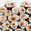 Sushi isolated on white background - Stock Photo