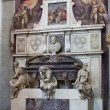 Florence - Santa Croce.Tomb of Michelangelo Buonarroti - Stock Photo