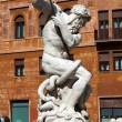 Piazza Navona, Neptune Fountain in Rome, Italy - Stock Photo