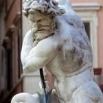 Piazza Navona, Neptune Fountain in Rome, — Stock Photo #17177369