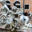 Piazza Navona, Neptune Fountain in Rome, — Stockfoto