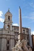 Sant'Agnese in Agone at Piazza Navona in Rome — Stock Photo