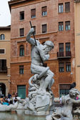 Piazza Navona, Neptune Fountain in Rome, — Stock Photo