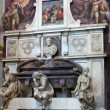 Florence - Santa Croce.Tomb of Michelangelo Buonarroti — Stock Photo