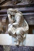 Florence - Santa Croce.Tomb of Michelangelo Buonarroti — Stock Photo