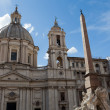 Sant'Agnese in Agone at Piazza Navona in Rome — Stock Photo #17653173