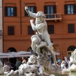 Piazza Navona, Neptune Fountain in Rome — Stock Photo