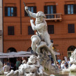 Piazza Navona, Neptune Fountain in Rome — Stock Photo #17653773