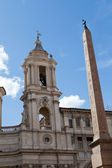 Sant'Agnese in Agone at Piazza Navona in Rome, — Foto de Stock