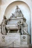 Floransa - santa croce.tomb dante alighieri — Stok fotoğraf