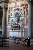 Florence - Santa Croce. Tomb of Galileo Galilei — Stock Photo