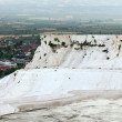 Travertine pools and terraces in Pamukkale - Stock Photo