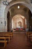La iglesia de santa águeda en asciano.tuscany, italia — Foto de Stock