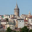 Galata tower in Beyoglu district of Istanbul, Turkey - Stock Photo
