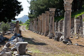 Harbor Street in the ancient Greek city Ephesus — Stock Photo