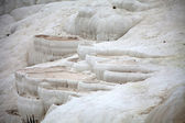 Travertine pools and terraces in Pamukkale Turkey — Stock Photo